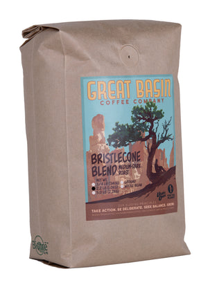 1 kilogram bag of medium dark roast coffee
