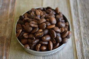 Roasted espresso coffee beans