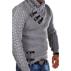 Turtleneck Men Long Sleeve Knitted Sweater