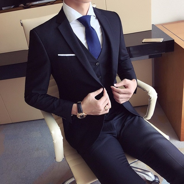 High Quality Men's Fashion Slim Fit Formal Suit