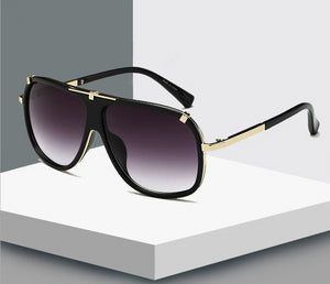 Fashion Brand Square Designer Gradient Lens Sunglasses
