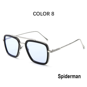 Tony Stark Iron Man Gradient Square Sunglasses