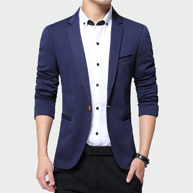 2019 New Men's High Quality Casual Slim Fit Blazer