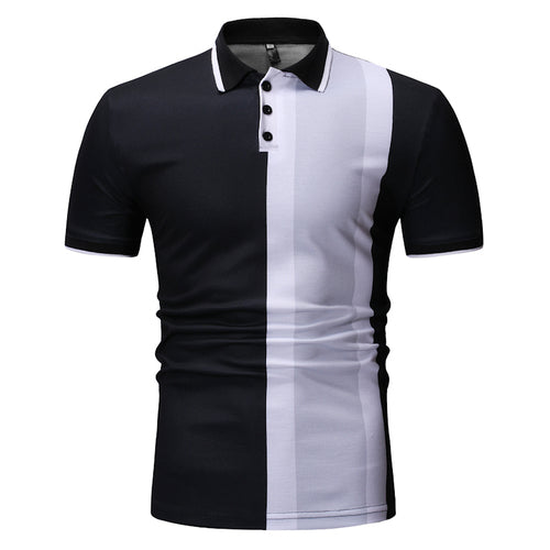 Summer 2019 Men's Casual Fashion Plaid Polo Shirt