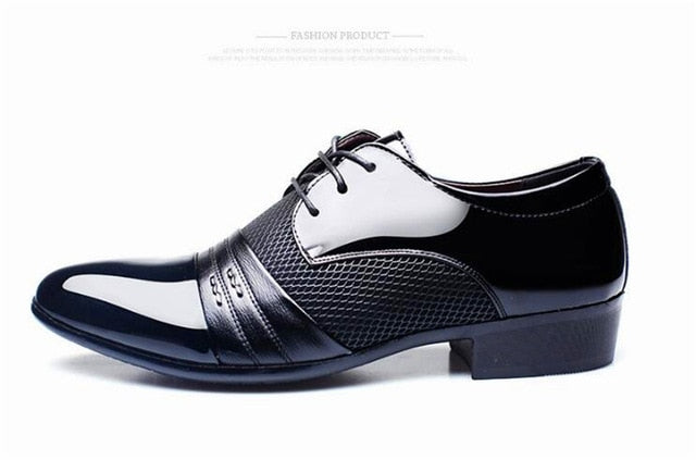 New Arrival Men's Leather Business Flat Black & Brown Breathable Shoes