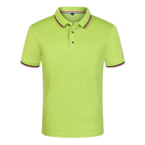 New 2019 Solid Color Summer Breathable Men's Polo Shirt