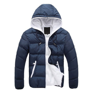 Autumn Winter 2020 Warm Slim Casual Windbreak Hooded Jacket