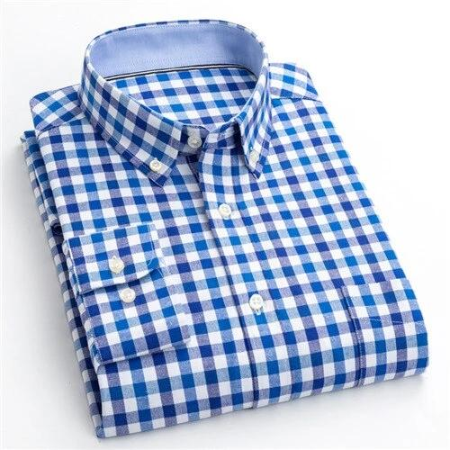 New Autum 2019 Arrival Men's Shirt Fashion Men Print Long Sleeved Shirt Chemise