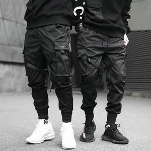 MCCA - Trendy Men's Hip Hop Multi-Pockets Elastic Trousers