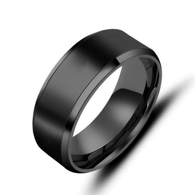 MWA - 3 Color Models Titanium Anti-allergy Smooth Rings
