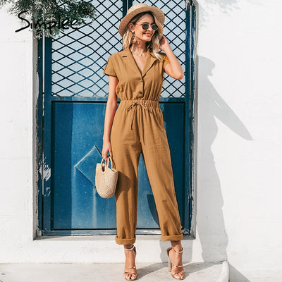 WCL - Amazing casual high waist lace up jumpsuit