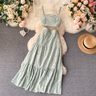 WCL - New Summer Hollowing Beach Two Piece Set