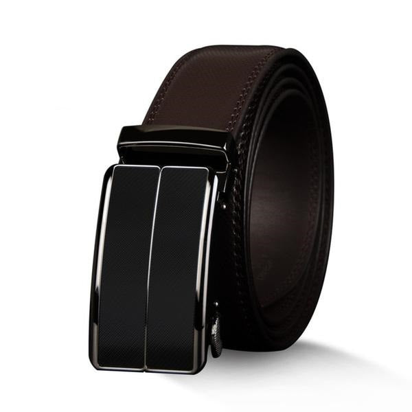 MFCA - High Quality Genuine Cow Black/Brown Leather Belt for Men