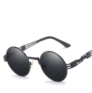 Summer 2019 Gothic Steampunk Round Men's Sunglasses