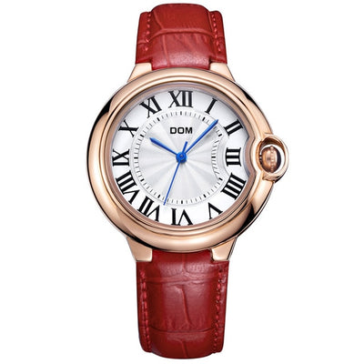 WWA - Luxury Golden Genuine Leather Watch - D5596