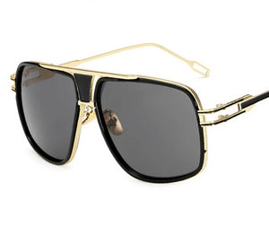Gold Plated Square Men's Sunglasses