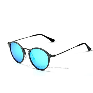 Brand Fashion Round Male Polarized Mirror Sunglasses
