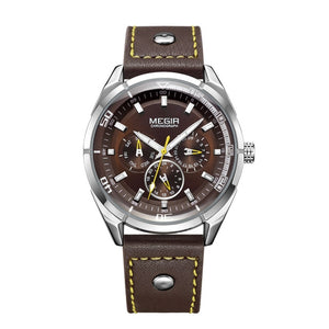 Amazing Casual Leather Wrist Watch - Ref CLW0102