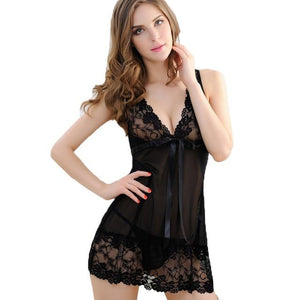 Elegant lace nightgown negligee nightwear lingerie