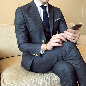 New Men's Fashion Three-pieces Business Suits