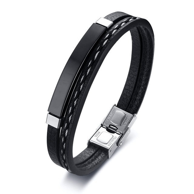 Luxurious Multi-layer Leather Bracelet for Men