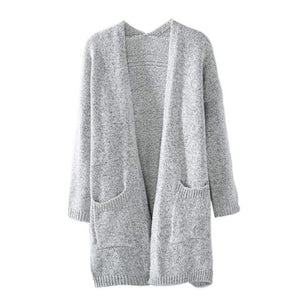WCCA - Fashion women long sleeve loose knitting cardigan