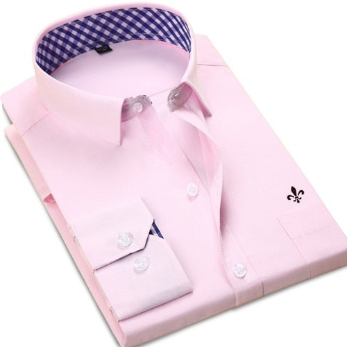 Classical Long Sleeve Formal Business Shirt Chemise -