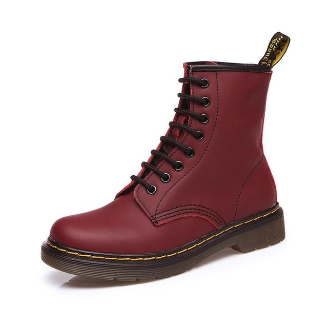 Genuine leather boots for woman