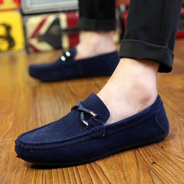 New Summer Men's Comfortable Flat Casual Shoes Breathable Mocassins