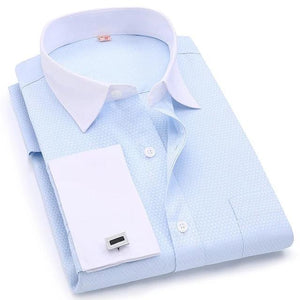 Elegant French Cufflinks Business Wedding White Collar Shirts Chemises