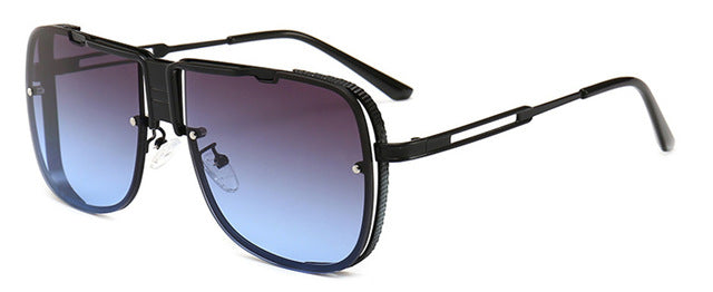 Fashion Men's Brand Designer Square Gradient Sunglasses
