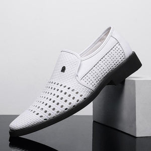 Amazing Men's Genuine Leather Soft Bottom Breathable Shoes
