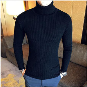 MCCA - Autumn Winter 2020 Elegant Slim-fit Turtleneck Wool Sweater