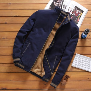 Autumn Winter 2020 Thick Warm Bomber Casual Fleece Jacket