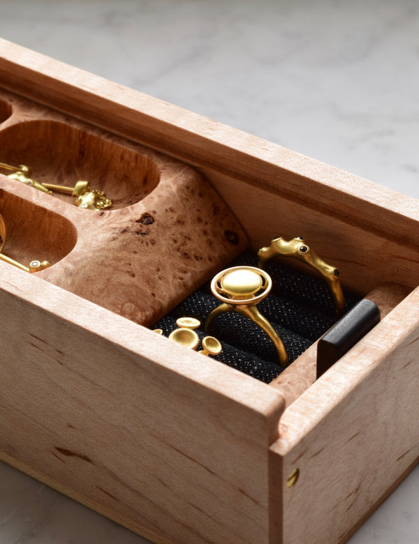Handcrafted Modern Jewelry Boxes to house your most treasured pieces, by Ninos Studio.