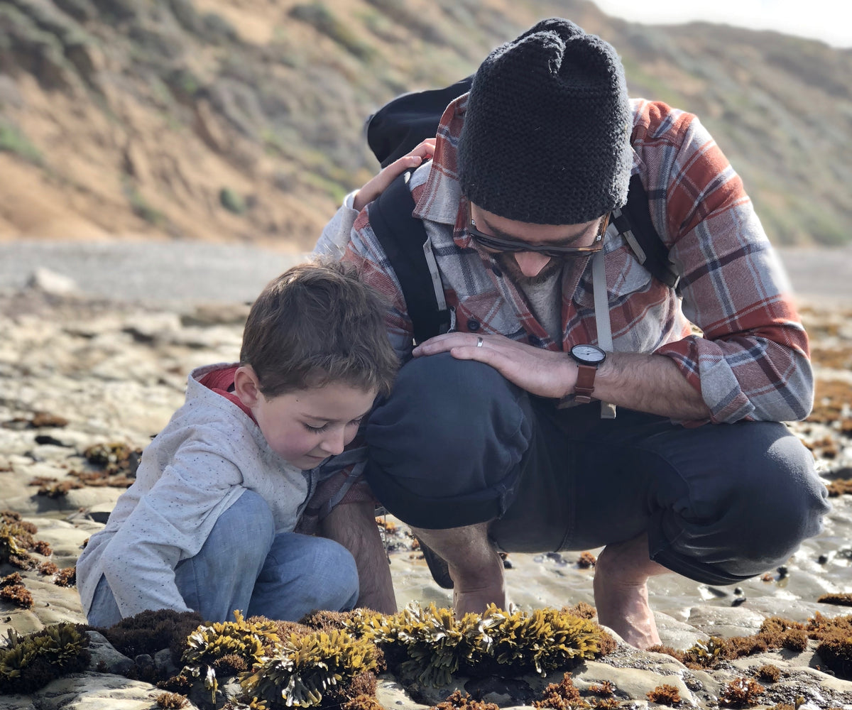 Finding inspiration along California's Central Coast. Johnny Ninos of Ninos Studio and son.