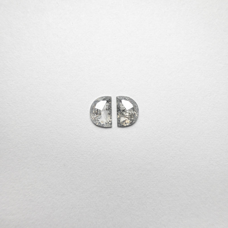 0.52cttw 4.88x3.47x1.49mm Half Moon Rosecut Matching Pair 18493-04