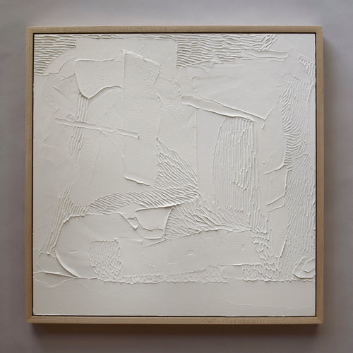 Site. White Abstract Painting.