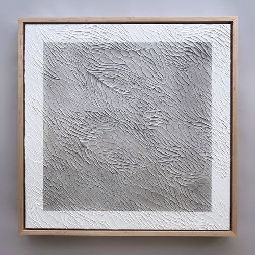 Textural Monochromatic Painting, Current Series by Ninos Studio.