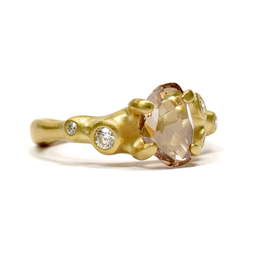 Champagne Diamond Ring by Johnny Ninos. Ninos Studio.