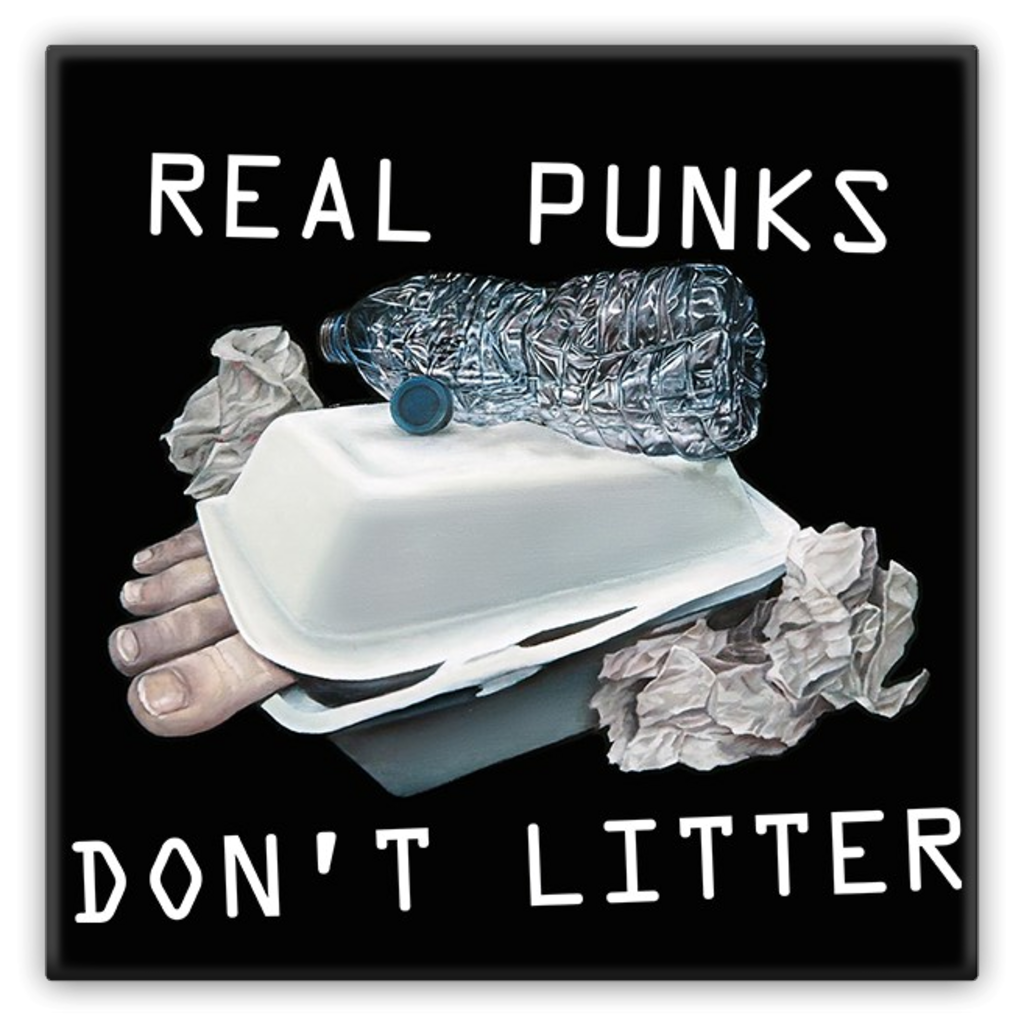 REAL PUNKS DON'T LITTER (Metal Magnets)