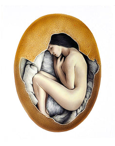 Hatched (Color Pencil Drawing)