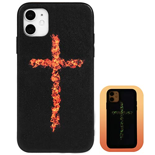 X-spirit Case for Apple iPhone 11, Cool Design, Cross On Fire, Burning Cross with Flame, Phone Case Cover for Apple iPhone 11 (iPh 11-Burning Cross)