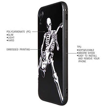 Load image into Gallery viewer, Case for Apple iPhone XR, Skeleton Playing Guitar, Cool Skull Style for Musician Guitarist, Phone Case Cover for Apple iPhone XR (iPh XR-Skeleton Playing Guitar)