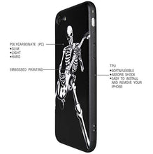 Load image into Gallery viewer, Case for Apple iPhone 7 / 8 / New Se (2020), Skeleton Playing Guitar, Cool Skull Design for Musician Guitarist (iPh 7/8/Se-Skeleton Playing Guitar)