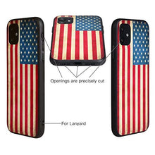Load image into Gallery viewer, X-spirit iPhone 11 Leather Case American Flag Glow in The Dark (iPh 11-American Flag)