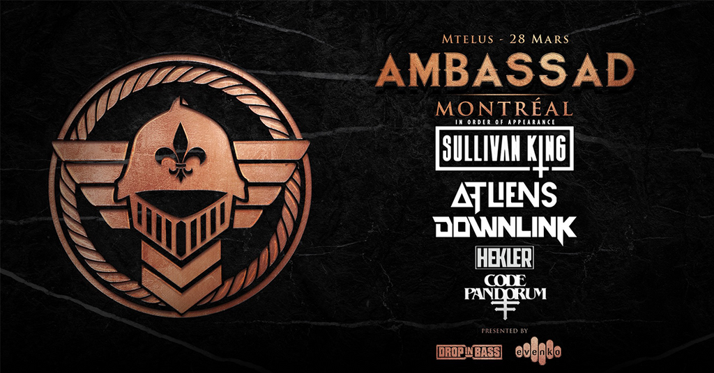 Drop In Bass & Evenko Present Full Lineup for Its First Edition Of AMBASSAD Montreal