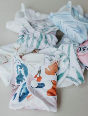 Organic Cotton Reusable Cloth Pads - FREE Medium Wetbag Upgrade with Trial/Starter Packs!