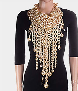 Adisa pearl statement necklace set