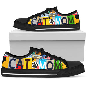 Cat Mom Low Top Shoes - Wonder Cute Official